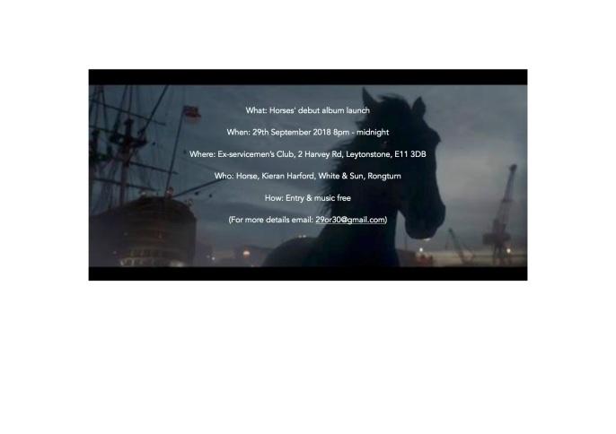 Horses album launch flyer